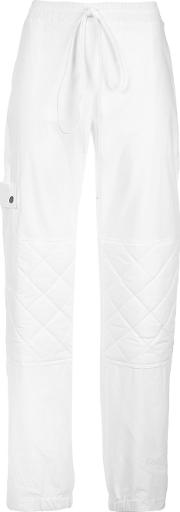 Rosie Assoulin , Quilted Knee Sweatpants Women Cotton 6, White