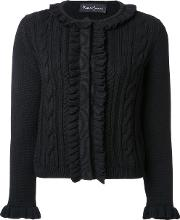 Rossella Jardini , Cable Knit Cardigan Women Wool 42, Black