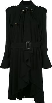 Rossella Jardini , Draped Trench Coat Women Viscosespandexelastane 42, Black