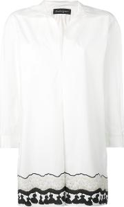 Rossella Jardini , Long Tassel Print Shirt Women Cotton 42, White