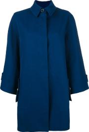 Rossella Jardini , Wide Sleeve Coat Women Silkcotton 42, Blue