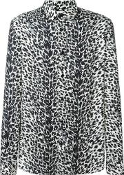 Saint Laurent , Animalier Printed Shirt Men Viscose 40, Black