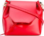 Salar , Valery Crossbody Bag Women Calf Leathercalf Suede One Size, Red