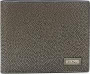 Salvatore Ferragamo , Fold Out Wallet Men Calf Leather One Size, Grey