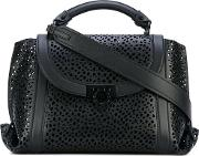 Salvatore Ferragamo , 'suzanna' Laser Cut Tote Women Calf Leather One Size, Black