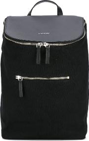 Sandqvist , Leather Panel Backpack Women Cottonleather One Size, Black