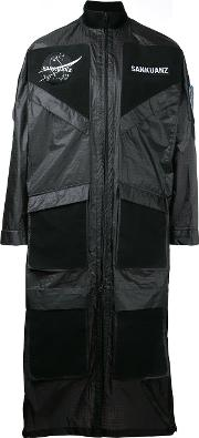 Sankuanz , Patch Pocket Coat Men Polyamide M, Black
