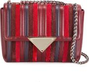 Sara Battaglia , 'elizabeth' Shoulder Bag Women Calf Leather One Size, Red