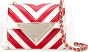 Sara Battaglia , Mini Elizabeth Crossbody Bag Women Calf Leather One Size, Red
