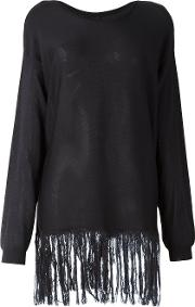 Sara Lanzi , Fringed Jumper Women Silk M, Blue
