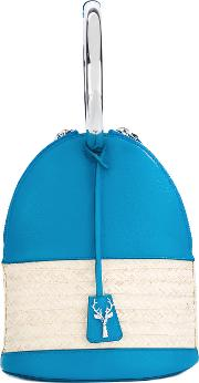Savas , Alice Tote Women Calf Leatherstraw One Size, Blue