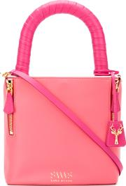 Savas , Lucchetto Tote Women Calf Leather One Size, Pinkpurple