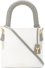 Savas , Lucchetto Tote Women Calf Leather One Size, White