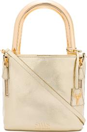Savas , Lucchetto Tote Women Calf Leathermetal Other One Size, Grey
