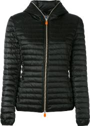 Save The Duck , Hooded Puffer Acket Women Nylonpolyester 0, Black