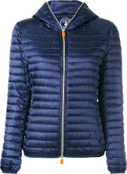 Save The Duck , Zipped Padded Jacket Women Nylonpolyester 0, Blue