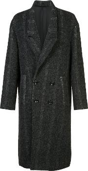 Secondlayer , Secondlayer Double Breasted Midi Coat Men Cottoncuprowool M, Grey