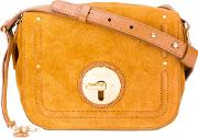 See By Chloe , Fold Over Closure Crossbody Bag Women Cottoncalf Leather One Size, Brown