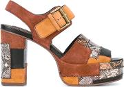 See By Chloe , Snakeprint Buckled Sandals Women Calf Leatherleather 36