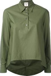 Semicouture , Plain Button Up Top Women Cotton 42, Green
