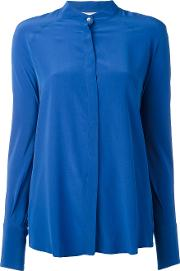 Semicouture , Plain Shirt Women Silk 42, Blue