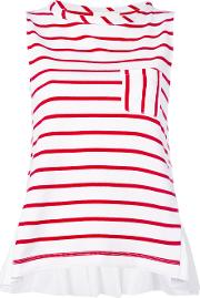 Semicouture , Striped Sleeveless Top Women Cotton M, White