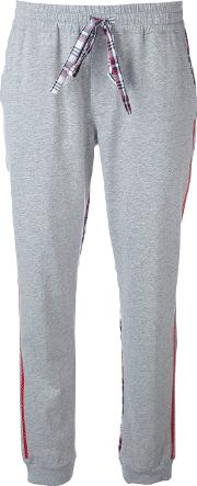 Sold Out Frvr , Checked Sides Jogging Trousers Women Cotton 42, Grey