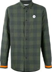 Sold Out Frvr , Sid Checked Shirt Men Cottonlinenflax L, Green