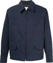 Song For The Mute , Jacquard Jacket Men Cotton 48, Blue