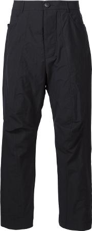 Song For The Mute , Loose Fit Trousers Men Cottonpolyester 46, Black