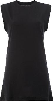 Song For The Mute , Sleeveless T Shirt Women Cotton 36, Black