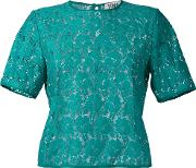 Sonia By Sonia Rykiel , Embroidered T Shirt Women Cottonpolyamide 36, Green