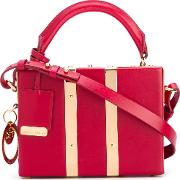 Sophie Hulme , Mini Structured Tote Women Calf Leather One Size, Red