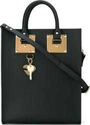 Sophie Hulme , Stylised Stud Detail Tote Bag Women Leather One Size, Black