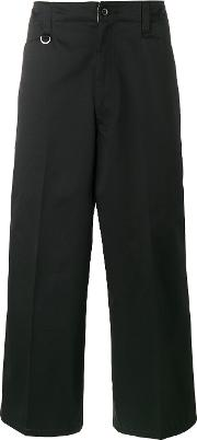 Sophnet , . Cropped Wide Leg Trousers Men Cottonpolyester S, Black