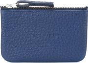 Soulland , Embossed Front Wallet Men Leather One Size, Blue