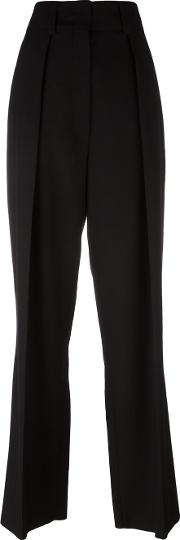 Sportmax , Flared Trousers Women Virgin Wool 42, Black