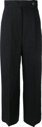 Sportmax , Straight Leg Trousers Women Linenflax 44, Black