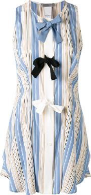 Sportmax , Striped Bow Top Women Silk 46, Blue