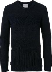 Stephan Schneider , Reason Jumper Men Cottonwool M, Blue
