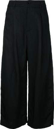 Studio Nicholson , Cropped Trousers Women Linenflaxviscose 1, Black