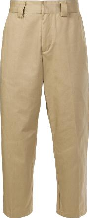 Stussy , Cropped Trousers Men Polyestercotton 30, Brown