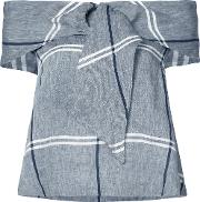 Suno , Checked Top Women Cottonlinenflax 0, Grey
