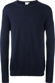 Sunspel , Crew Neck Jumper Men Cotton S, Blue