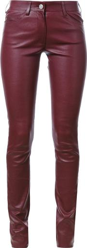 Sylvie Schimmel , 'cash Stretch' Skinny Trousers Women Calf Leather 36, Red