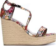 Tabitha Simmons , 'jenny' Wedge Sandals Women Cottonstraw Brown Rubber 39