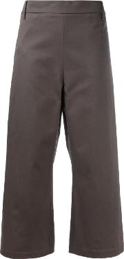 Ter Et Bantine , Cropped Wide Leg Trousers Women Cotton 42, Brown