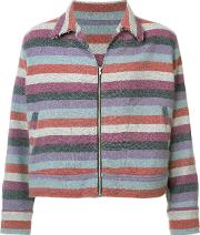 The Elder Statesman , Striped Jacket Men Cashmere M