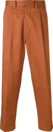 The Gigi , Craig Cropped Trousers Men Cotton 52, Brown