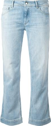 The Seafarer , Bootcut Cropped Jeans Women Cottonpolyester 29, Blue